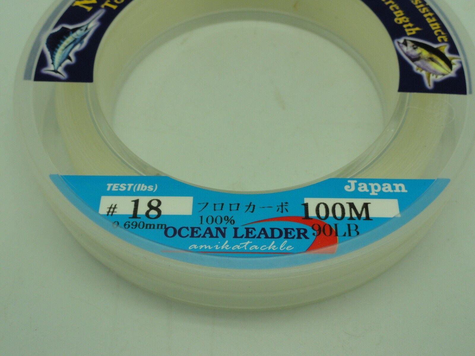 Amika Mirage Flugoldcarbon Leader Japan U.S. 60 90lb 110yd Jigging BG Fishing