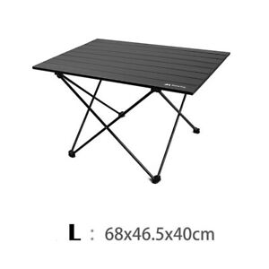 Aluminum Multifunctional Folding Camping Table For Outdoor BBQ Picnic L Black