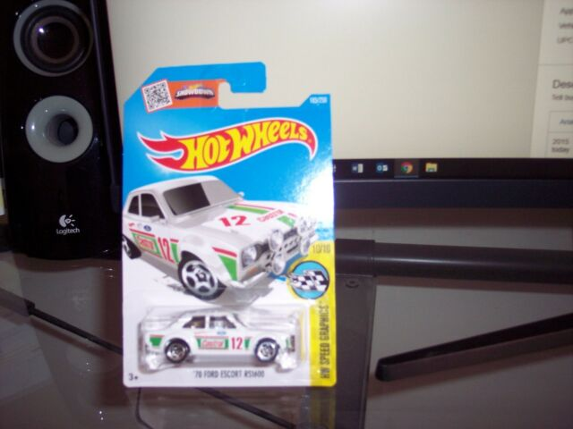 HOT WHEELS 2016 HW SPEED GRAPHICS '70 FORD ESCORT RS1600 WHITE- CASTROL