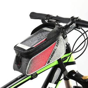 Borsa-Borsetta-TUBO-anteriore-impermeabile-Porta-Cellulare-6-2-034-Bici-Ciclismo-Bag