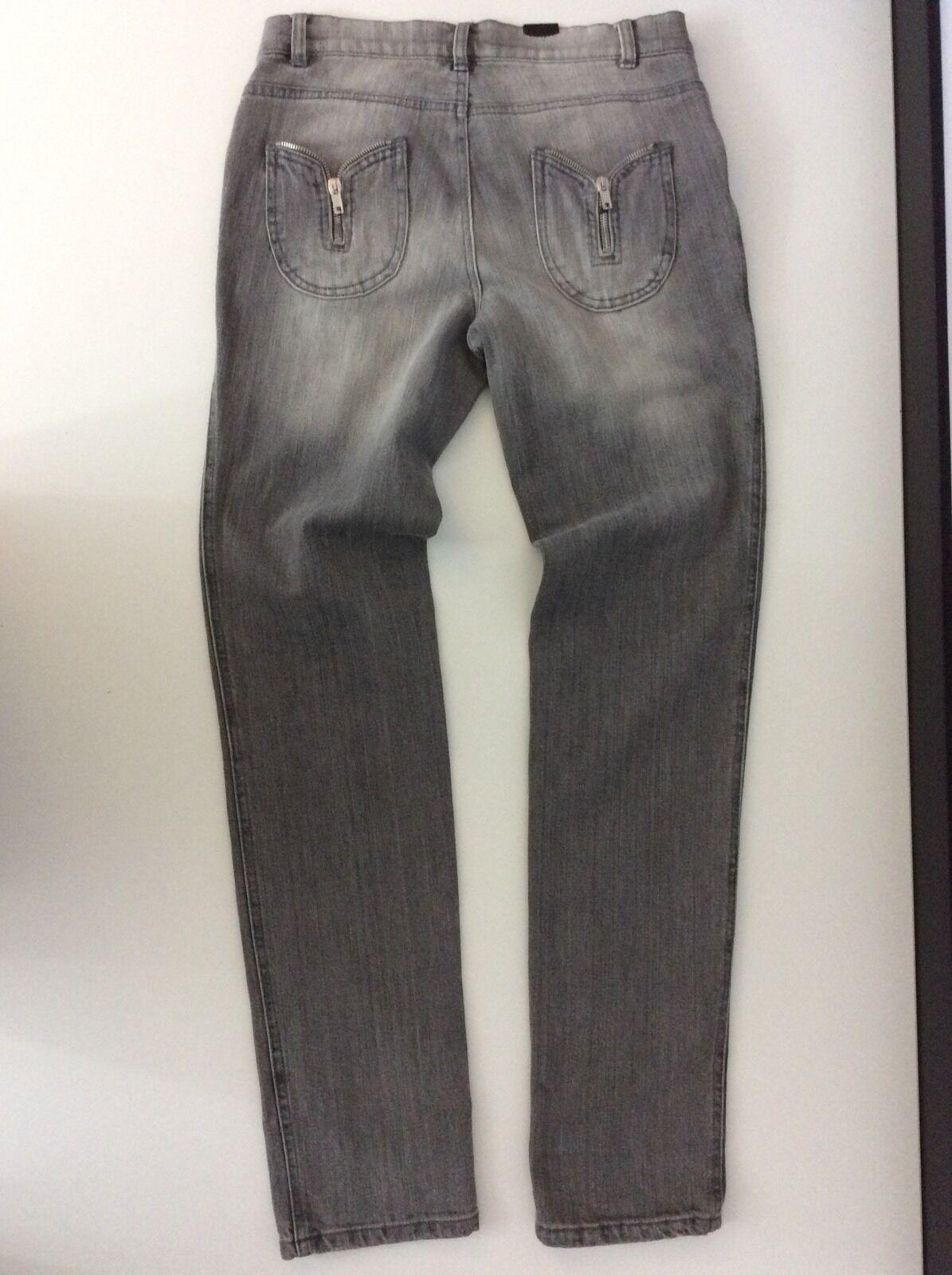 Alexander MCQUEEN MCQ new Grey Women's Jeans Size 40 BNWTS  Leg 32  Inches