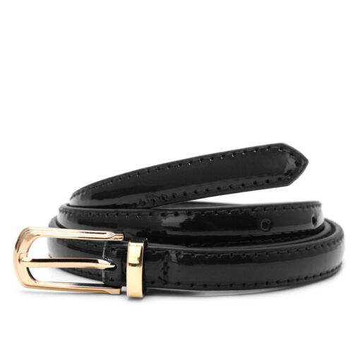 Classic Donna Ragazze Women/'s Slim Sottile Skinny Cintura in pelle ad altezza vita Cintura
