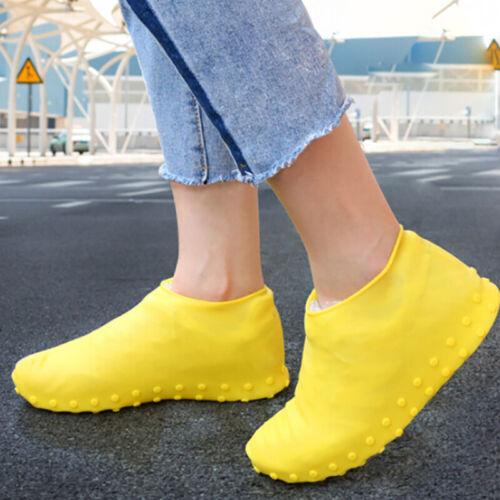 Многоразовый нескользящая обувь покрывает дождь водонепроницаемый силиконовый чехол для обуви США