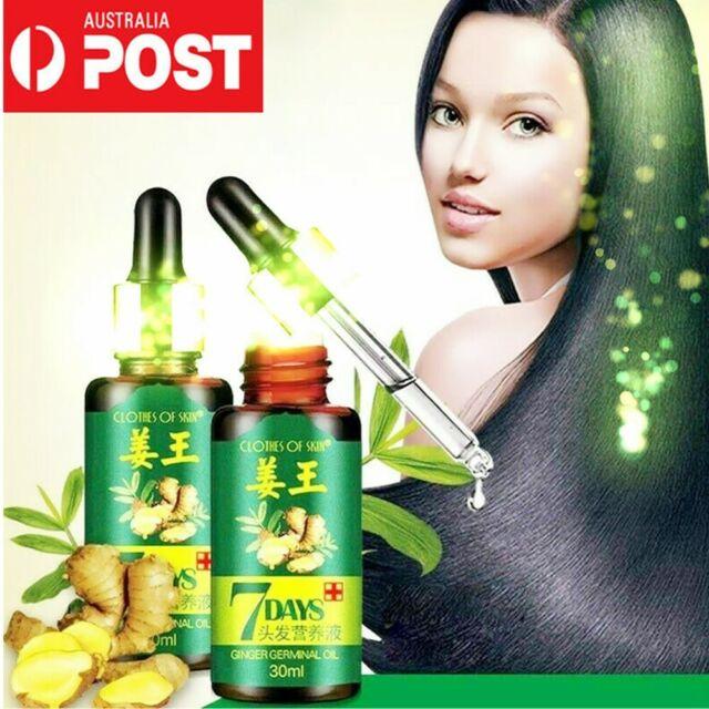 7 Days Natural Ginger Anti Hair Loss Essential Oil Hair Fast Growth Liquid HOT