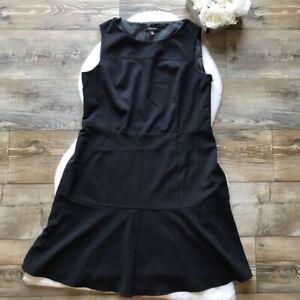 Nine-West-Size-16-Women-039-s-Black-Sleeveless-Dress-Polyester-Blend-Stretch