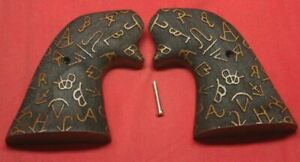 Colt Firearms Single Action Army Carved Wood Target Grips SAA