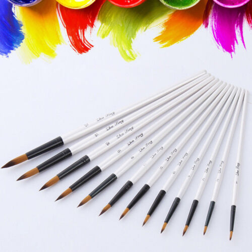 12 Pcs//Set Artist Paint Brushes Acrylic Oil Watercolour Painting Craft Art Model