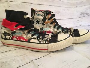 c406cc1984fe21 Image is loading Chuck-Taylor-Converse-All-Star-Graffiti-Double-Layer-