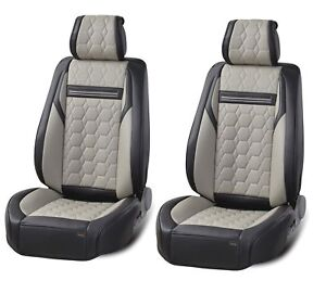 Deluxe-Premium-Grey-Black-Leather-Diamond-Look-Seat-Covers-for-Land-Range-Rover