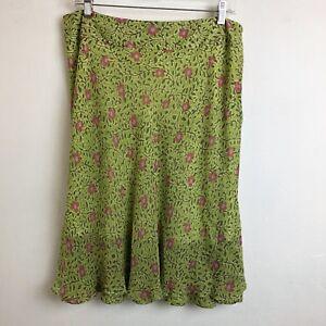 d2ec70975f Image is loading sigrid-olsen-womens-size-10-green-pink-floral-