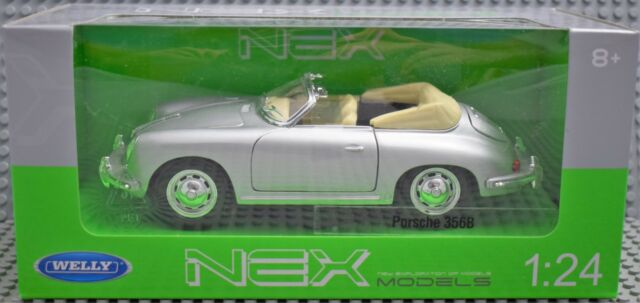 Welly Porsche 356B Silber in 1:24 Neu & OVP