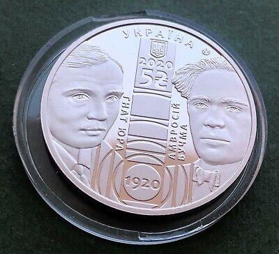 Franko Academic Drama Theater Ukraine 2020 Silver 1 Oz Proof 10 Hryvnia Coin