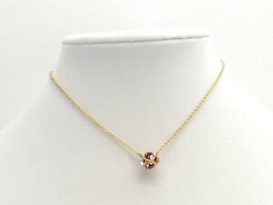 08dc61d3b34db Details about Kate Spade New York Pink Lady Marmalade Mini Pendant Necklace  Goldtone New!