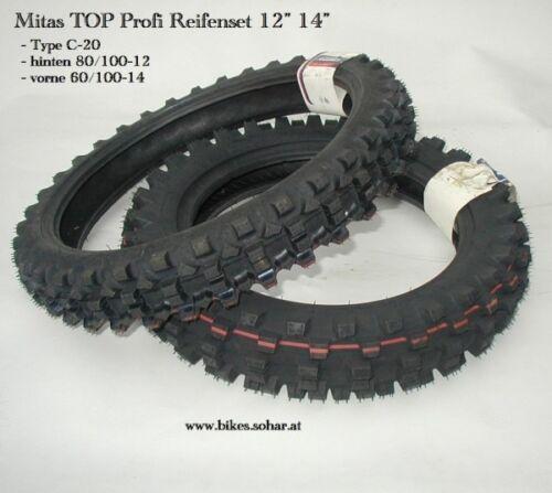 60 100 14 Cross Bike Motocross TOP Marken Reifen Set 12 Zoll 14 Zoll 80 100 12