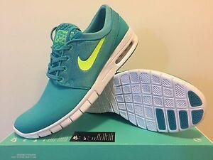Nike Stefan Janoski Max  ( green  ) Mens Us Size 11  (no box cover)