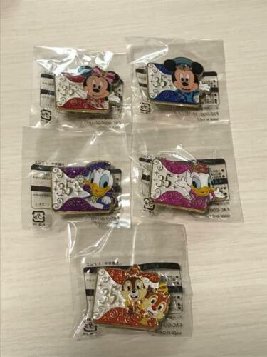 S Japanese Tokyo Disney Sea 35th anniversary pin all five Complete set Rare F