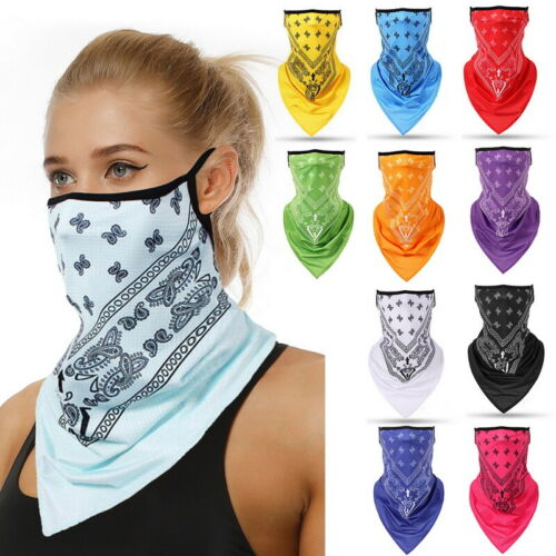 Half Face Scarf Neck Cover Scarves Breathable Triangle Bandanas Anti-Dust