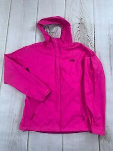 The North Face Womens Long Sleeve Logo Hooded Pink Rain Jacket Size Small
