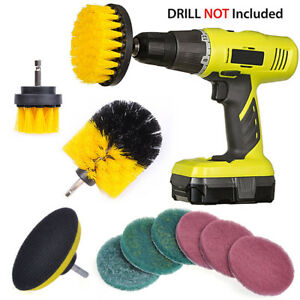 10pcs-Drill-Brush-Attachment-Kit-Power-Scrubbing-Brush-Scourin-Pads-Cleaning-Kit