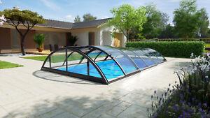 Das Bild Wird Geladen Poolueberdachung Schwimmbecken Uberdachung  Poolabdeckung Klasik Clear B Anthrazit