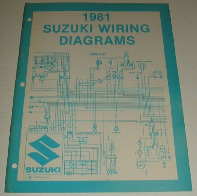 1981 Suzuki Wiring Diagram Manual Gn Pe Ds Dr Ts Sp Gs 125
