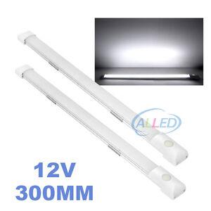 2X12V-LED-Strip-camping-Light-Flourescent-Switch-Caravan-Cabinet-Marine