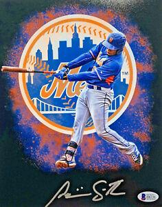 New-York-Mets-Dominic-Smith-Signed-8x10-Photo-Auto-Beckett-BAS-COA