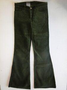 100% De Qualité Ato Patte D'eph Messieurs Kord Pantalon Vert Foncé Unicolore W27 L36 Neuf! Art De La Broderie Traditionnelle Exquise