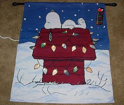 Peanuts Christmas Snoopy Tapestry Wall Hanging