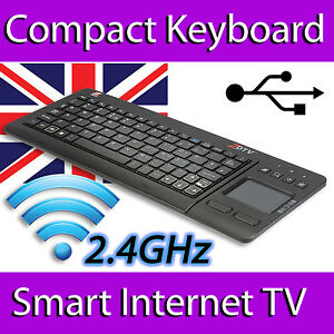Details about ZOOM ZDTV WIRELESS MINI KEYBOARD TOUCHPAD FULL UK LAYOUT  SPECIAL KEYS SMART TV