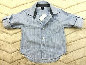 NWT-BABY-GAP-BOYS-LIGHT-BLUE-LONG-SLEEVE-BUTTON-UP-CASUAL-COMFY-SHIRT-SIZE-2