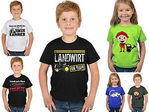 Das Bild Wird Geladen Kindershirt Landwirt Sprueche  T Shirt Gaertner Bauer Traktor