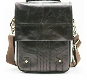 Men's Top-handle Hand And Crossbody Bag Leather Zipper Closure Casual  Styles New | eBay