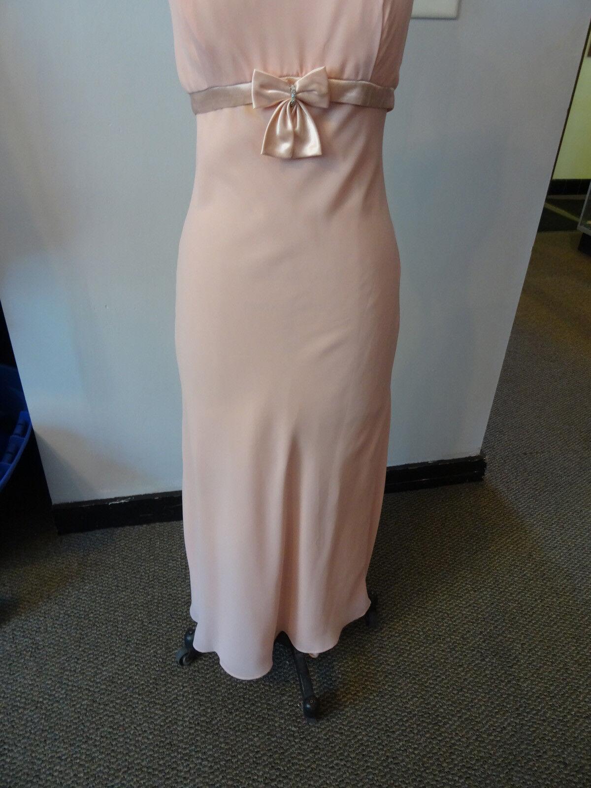 Gunne Sax Pink Formal Sleeveless Dress, Empire Wa… - image 5