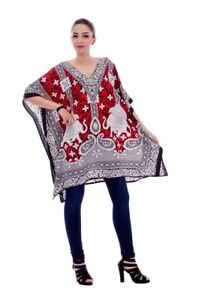Plus Size Women Kaftan Tunic Dress Kimono Sleeve Casual Caftan Tunic Tops Dress