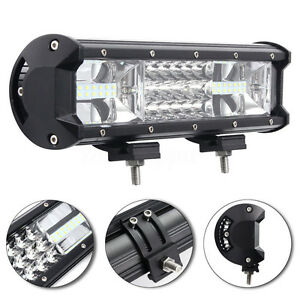 7D-Tri-Row-12Inch-324W-LED-Work-Light-Bar-Combo-Flood-Spot-Truck-SUV-4WD-OFFROAD