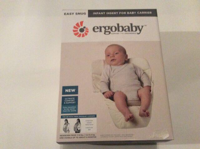 4340f528efa Ergobaby Carrier Infant Insert Easy Snug in Natural for sale online ...
