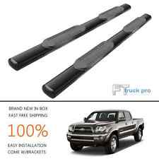 "For 05-17 Toyota Tacoma Double Cab 4 Door 5"" OVAL BLACK NERF BAR SIDE STEP RAILS"