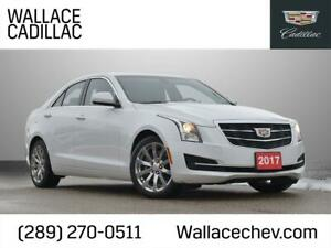 2017 Cadillac ATS 2.0L AWD SUNROOF, LEATHER HTD STS, Accident Free