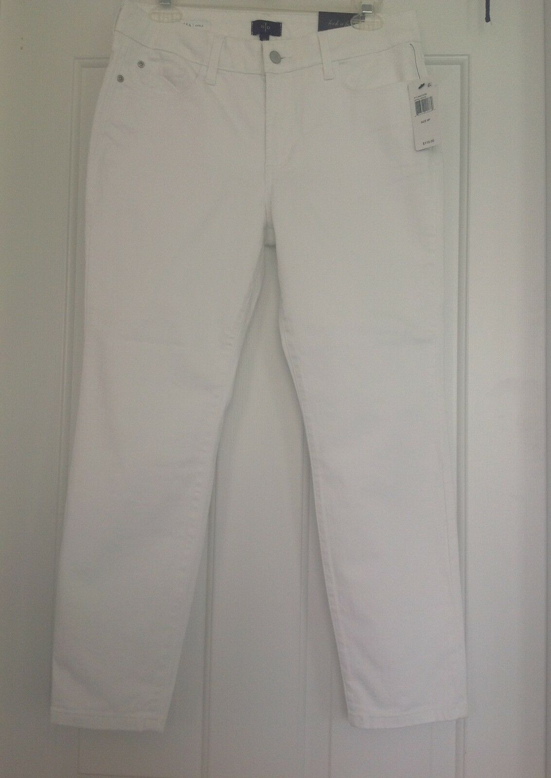 Denim skinny jeans White Cotton NYDJ Women's Ankle NWT Size 8 Petite