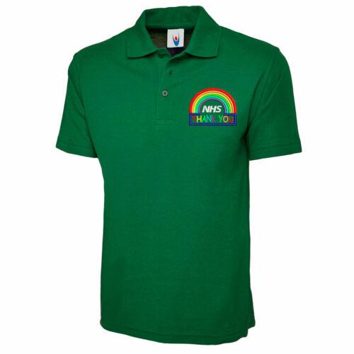 Merci NHS Love Rainbow chaleur brodé Poloshirt quarantaine isolement Cadeau Top