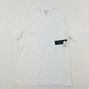 Bloomingdales-The-Men-039-s-Store-T-Shirt-V-Neck-Short-Sleeve-White-Variety-Size