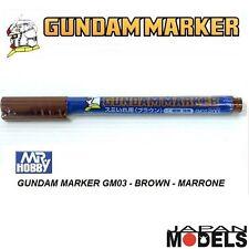 GUNDAM MARKER GM03 200 Brown - Pennarello Marrone Punta Fina Bandai Mr Hobby