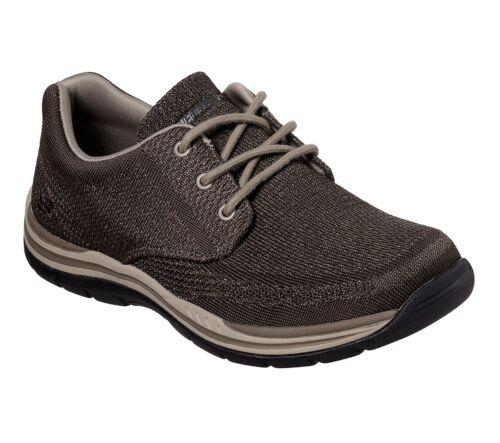 Confort Viscoelástica Skechers Marrón Hombre Zapatos 65720 Espuma Oxford Casual 04wXq