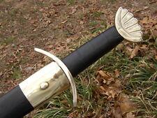 Celtic Viking Medieval Norseman Steel Spatha Sword Broadsword with Scabbard