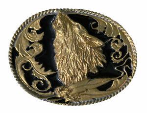 Herren-accessoires Wolf Head Belt Buckle Black & Gold Edition BüGeln Nicht