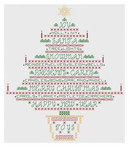 Frasi Albero Di Natale.Dettagli Su Albero Di Natale Frasi Blackwork Kit Da Florashell