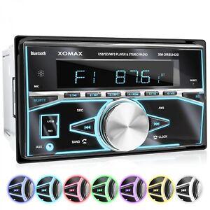 AUTORADIO-MIT-BLUETOOTH-FREISPRECHEINRICHTUNG-RDS-MICRO-SD-USB-AUX-DOPPEL-2DIN