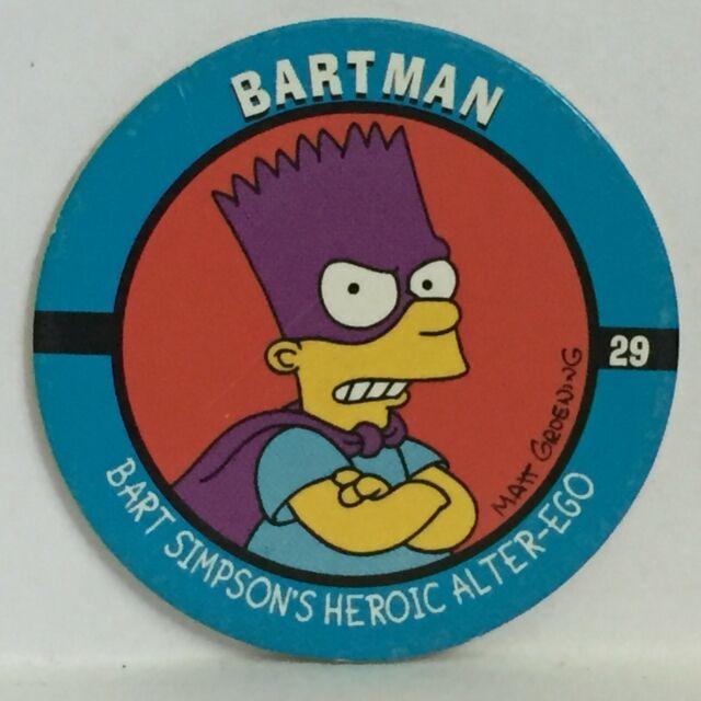 Skycap Milk Cap #27 Fallout Boy *1994 The Simpsons Pog
