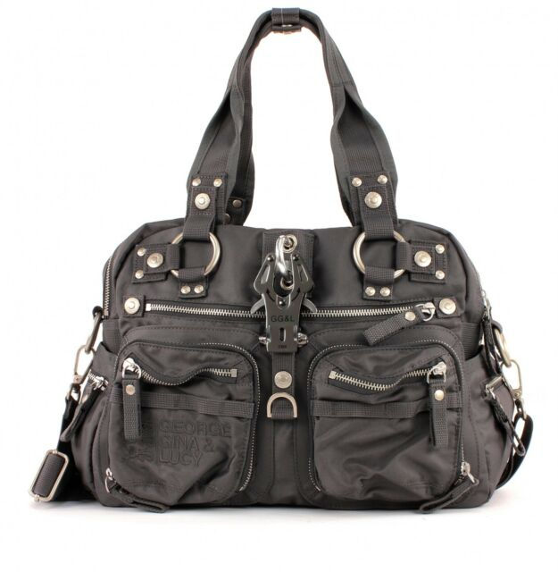 George Gina Nylon B Doble Gris Cross Fruta Lucy y P Bag Body 7TqBOw7